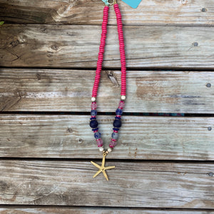 The Sea Star Necklace | Pink