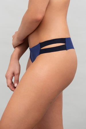 Stripped Color-Blocked Thong