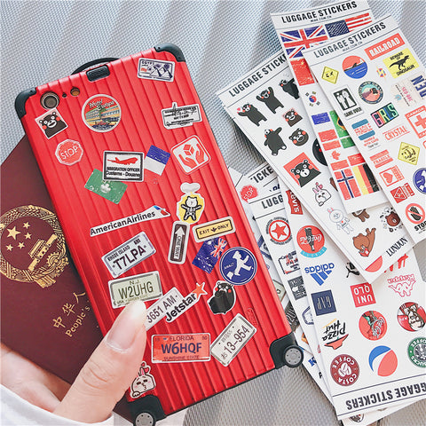 Suitcase/Luggage Super cute Travel Bag Lovers Letters Hard +8 stick
