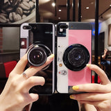 Fashion 3D Old Camera case iPhone X Cool Lens Balloon stent Phone Case TPU Protective Shell