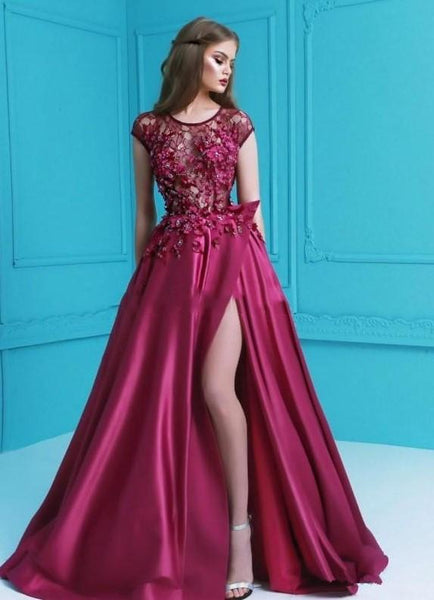 Wine Occasion Long  Maxi Gowns Party Dress