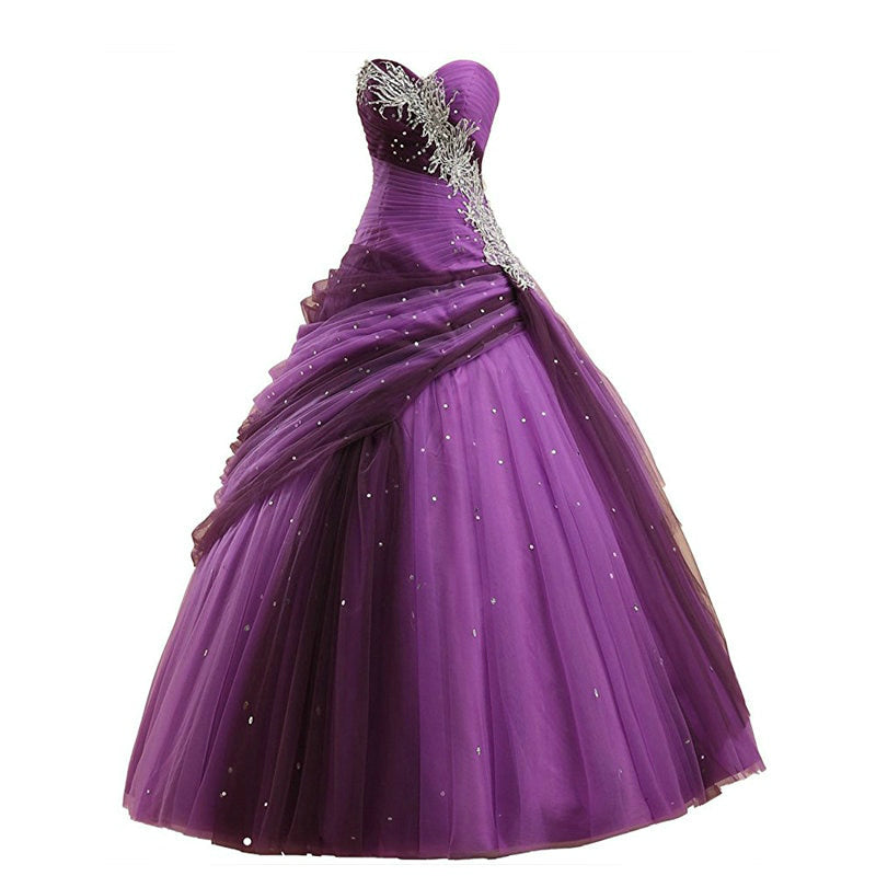 79a0ea9bb1db Purple Ball Gown Quinceanera Dress – She In Magazine