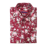 Floral Long Sleeve Vintage Blouse Cherry Turn Down Collar Shirt