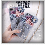 Cute Warm Fur Flower Soft Phone Back Cover