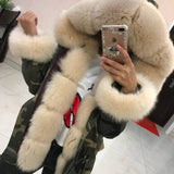 Real Fox Fur Parka Genuine Fox Fur Coat