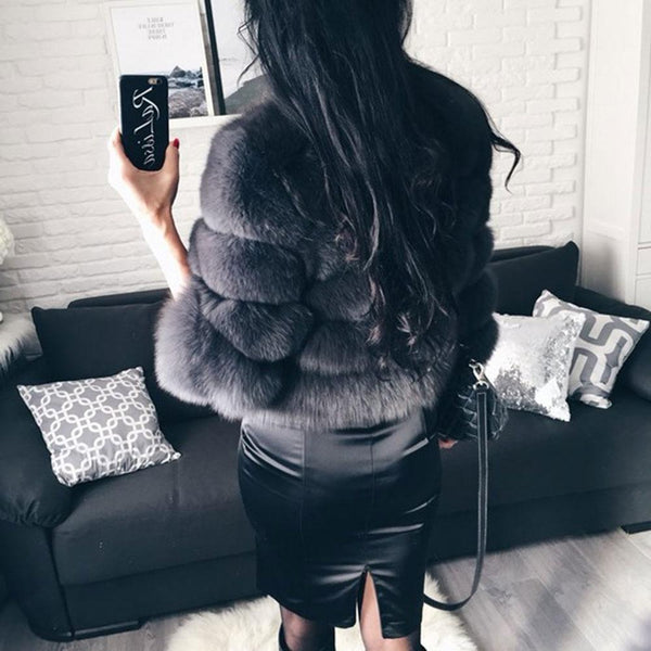 Sexy Short Slim Outwear Luxury Natural Real Fur Coat