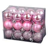 24pcs Christmas Tree Ball Decorations for DIY Xmas 3CM Ball Baubles Hanging