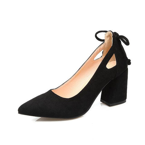 Pointed Toe High Heel Bow