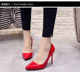 Sexy Pointed Toe Pumps Patent Leather High Heel