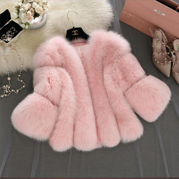 Real Fox Fur Coat Thick whole Short Natural Fox Fur Jacket