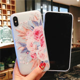 Cute 3D Flower Transparent Soft Silicone TPU Back Cover