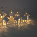 1.5M 10pcs LED Christmas Tree House Style Fairy Light Led String New Year Christmas decoration