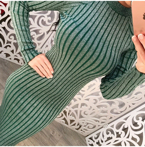 Elegant Long Sleeve O-Neck knitted Sweater Dress