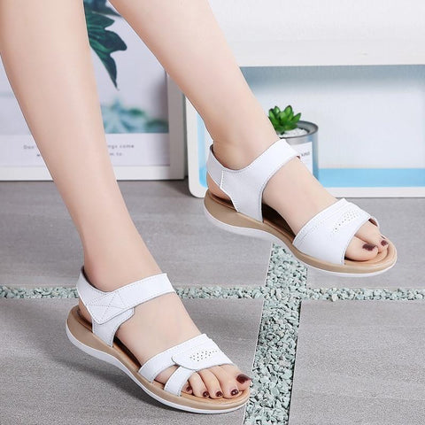 Classic Casual Sandals T-strap Open Toe Beach Sandal