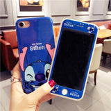 Cute Mickey Minnie 360 Phone Case + Glass Cover