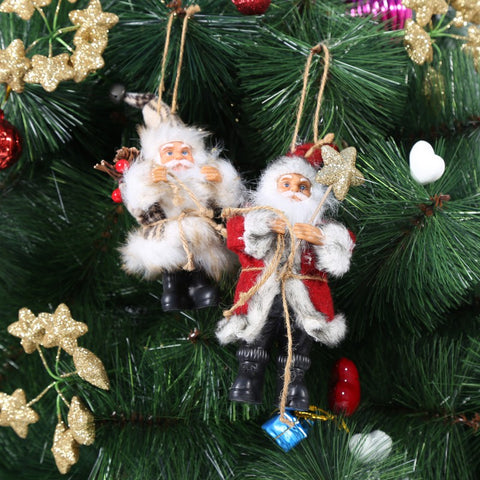 Cute Christmas Santa Claus Doll Toy Christmas Tree Ornaments Decoration