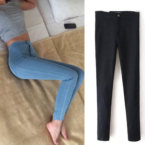Push Up Pencil Vintage High Waist Stretch Skinny Jean
