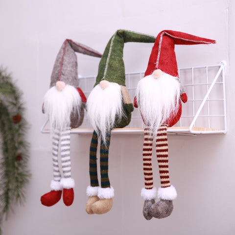 Christmas Decoration Cute Sitting Long-legged Elf Decorations
