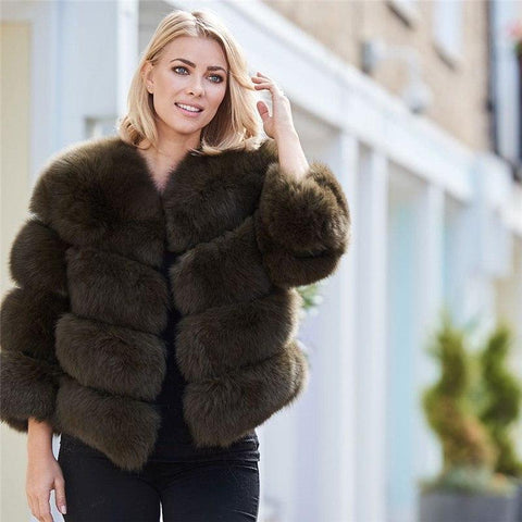 Real Fox Fur 4 Panels Natural Genuine Fox Fur