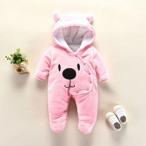 Cute Cartoon Winter Warm Hooded Body-Suite