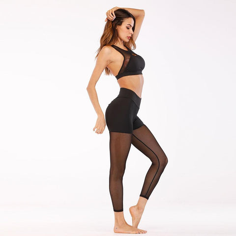 Stitching Elasticity Push Up Scrunch Butt Legging