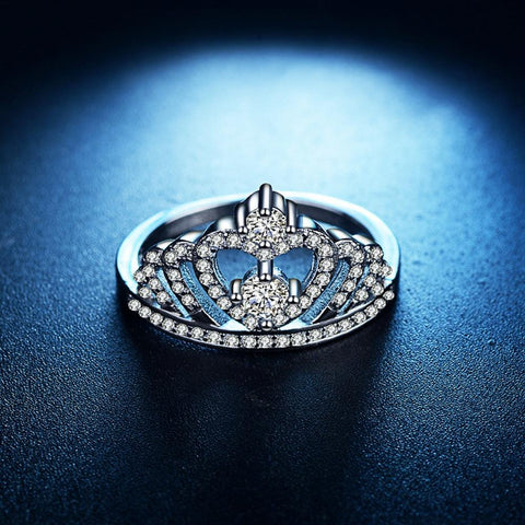Crown Shape Rhinestone Crystal Ring