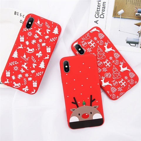 Cute Cartoon Christmas Santa Claus Elk Case Limited Stock