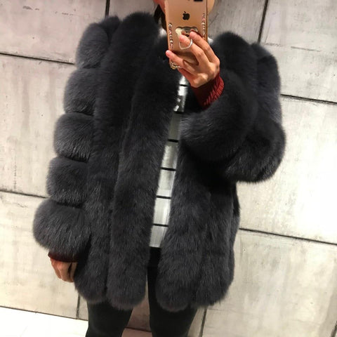 Real Fur Coat Natural Fur