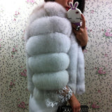 Real Fur Whole Skin Real Fox Fur Parka