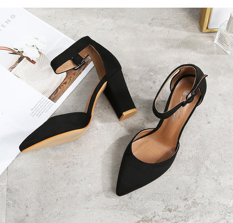 High Quality Flock Slip-On Shallow Wedding Party Heel