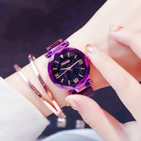 Luxury Starry Sky Wristwatch Magnet Buckle Watvh