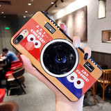 Hot New Style Camera Patterned Soft Glossy Silicon Cases Back Cover Shell