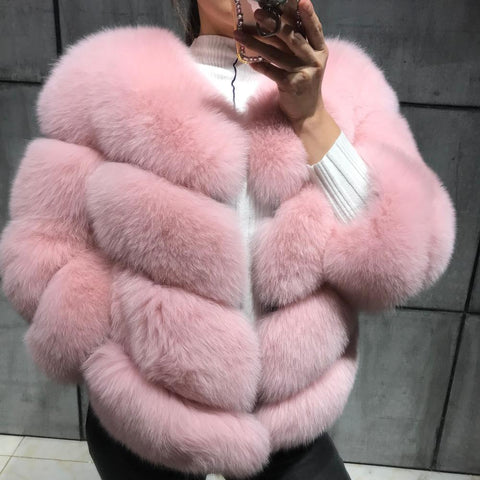 Real Fur Fox Strip Jacket