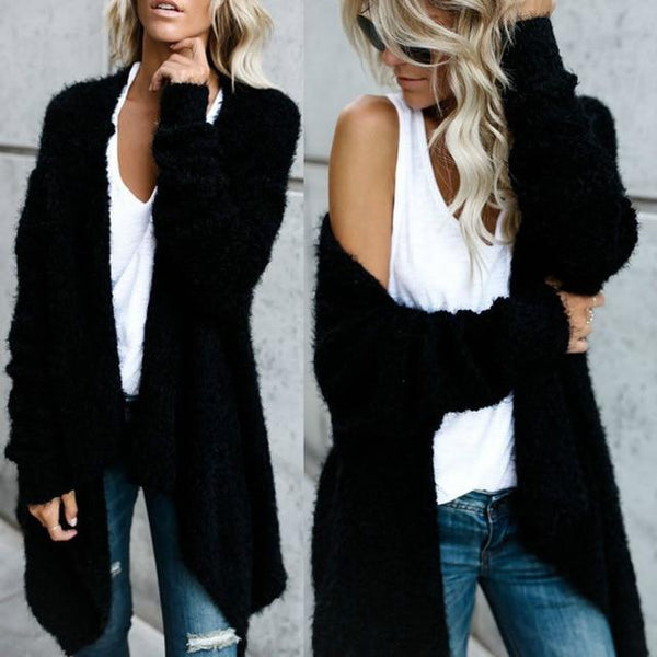 High Quality Mohair Knitted Long Sleeve Cardigans