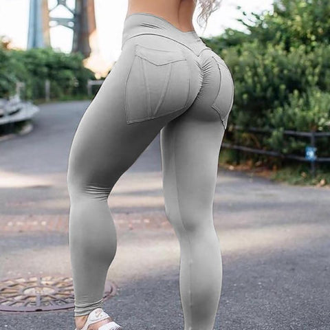 Elegant Solid Legging Elastic Sporting Leggings