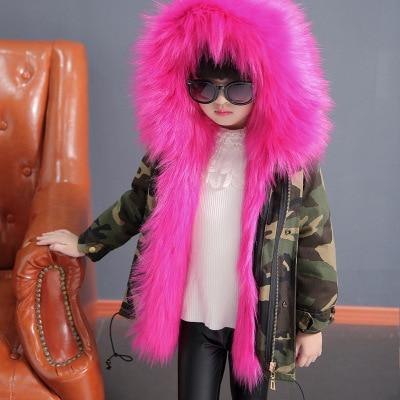 Faux Fur Liner Detachable Cotton Windbreaker Thick Warm Coat