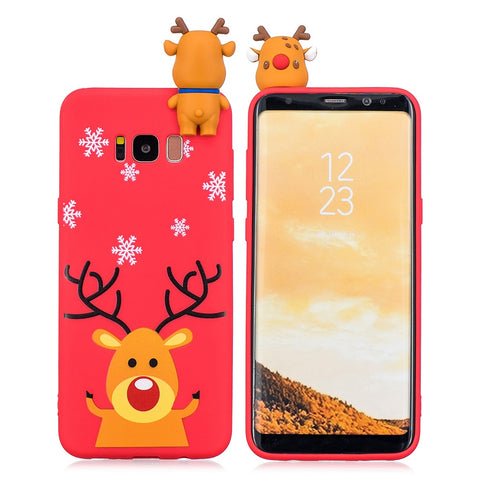 Christmas Gift 3D Phone Soft Cover Case For Samsung Models