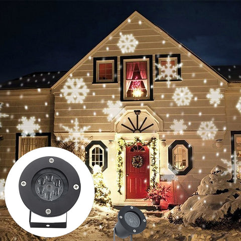 Snowflake LED Stage Waterproof Light For Christmas White & RGB