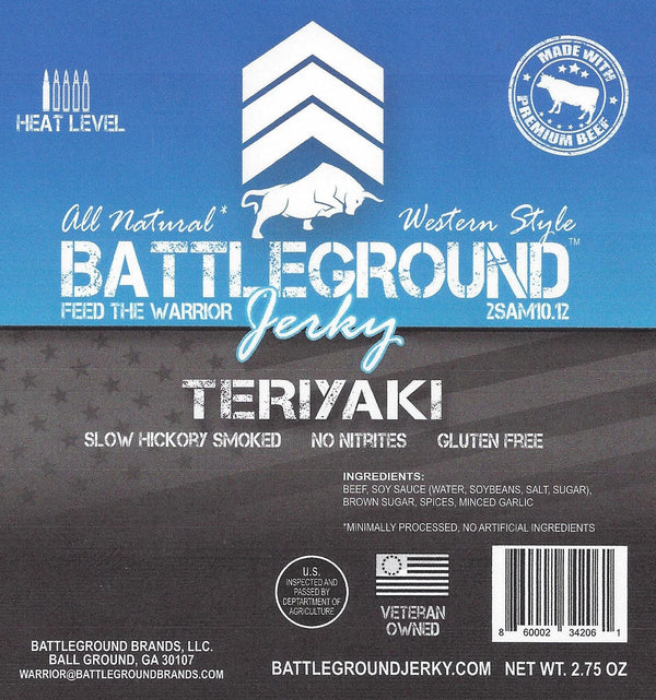 Teriyaki - BattleGround Beef Jerky