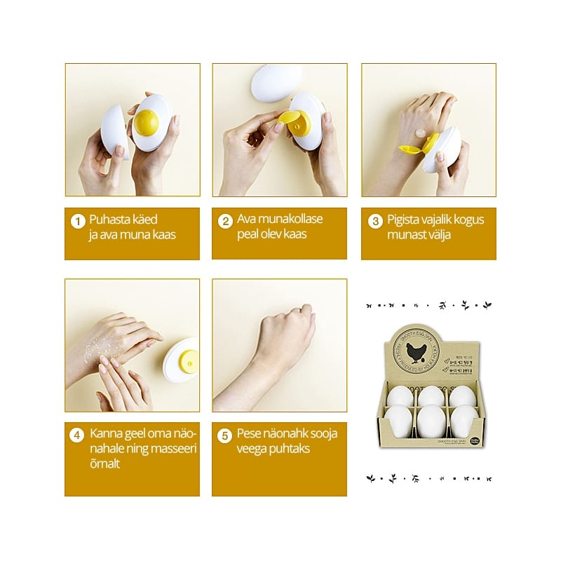 Holika Holika - Gel Exfoliant Doux Smooth Egg Skin Peeling Gel soin anti acné - Ambelle