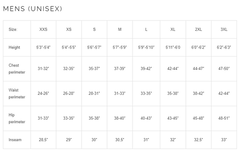 lasting men's running sizing guide