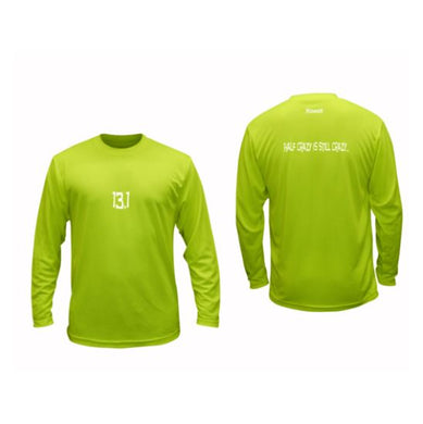 ruseen 13.1 half crazy performance long sleeve lime yellow