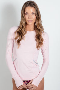 bloquv reflective long sleeve sun protection running shirt tickle me pink