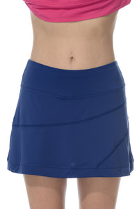 bloquv sun protection running skort women's banded navy