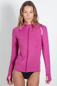 Bloquv sun protection running hoodie Orchid