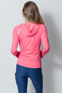 Bloquv sun protection running hoodie Watermelon