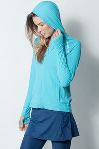 Bloquv sun protection running hoodie Light turquiose