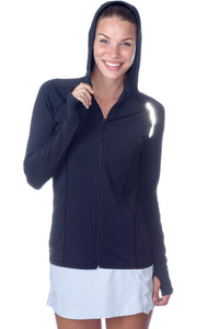 Bloquv sun protection running hoodie Black