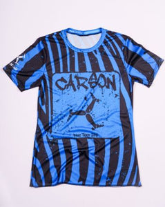 blue tiger performance running tee