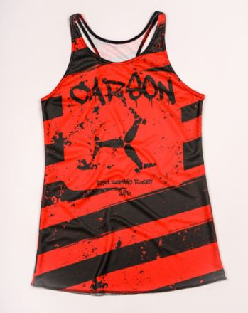 zombie racer moisture wicking performance singlet